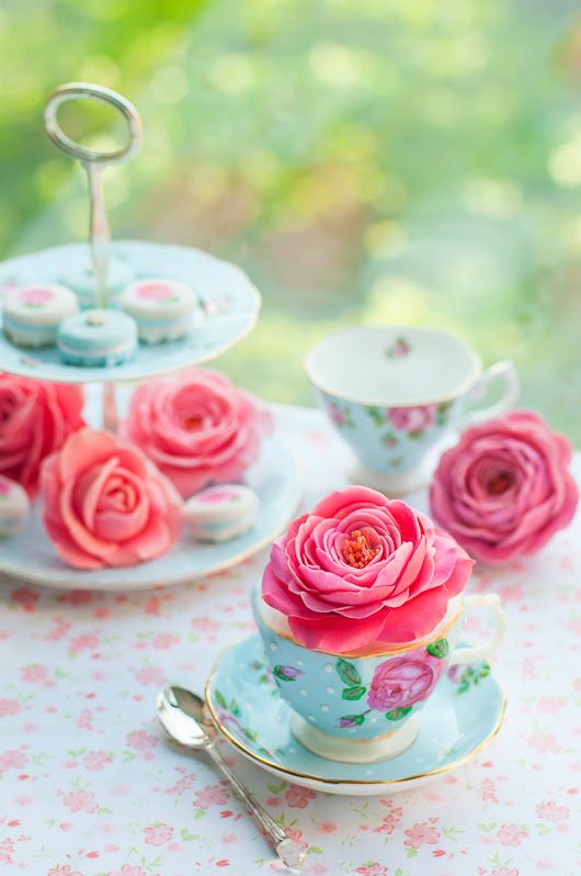 Lulu's Sweet Secrets:  Teacup Cake and Sugar Roses