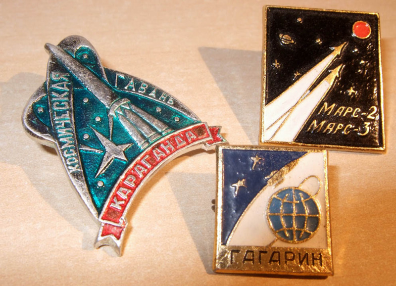 Soviet space mission badges from the 1960's