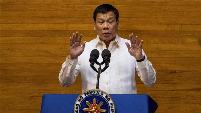 Philippine President Rodrigo Duterte asks congress for more troops