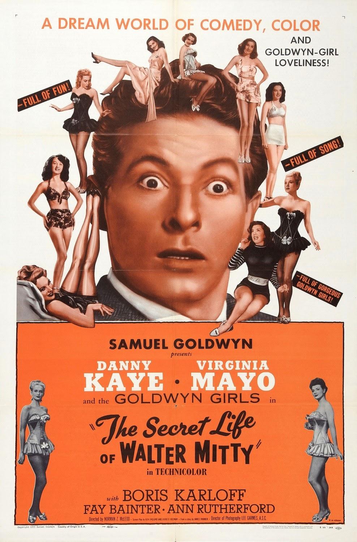 L'affiche de La Vie Secrète de Walter Mitty, sorti en 1947
