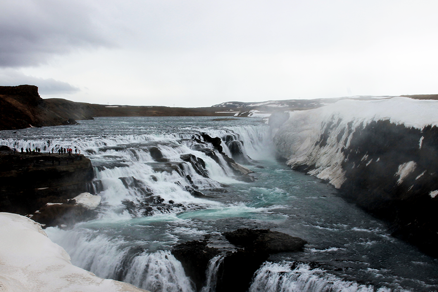 gullfoss waterfall iceland, iceland driving tour 2016, golden circle, blogger in iceland, iceland waterfalls