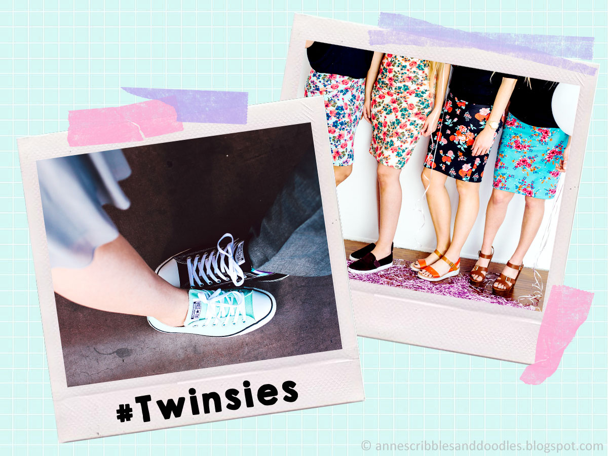 5 Hashtags for Your Next Bestie Photo: #Twinsies | Anne's Scribbles and Doodles