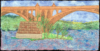 52 Ways to Look at the River, Week 49 panel, by Sue Reno