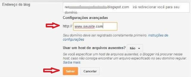 Configurar domínio Uol  Host 10