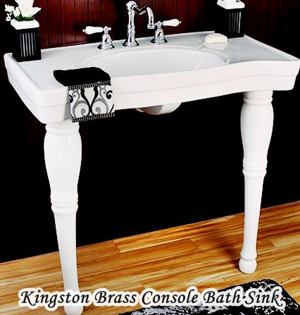 Kingston Brass Console Sinks For Small Bathrooms