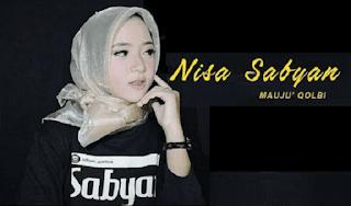 Lirik Lagu Mauju Qolbi - Nisa Sabyan