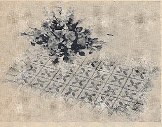 Free Crochet Mat Pattern, Workbasket 1951