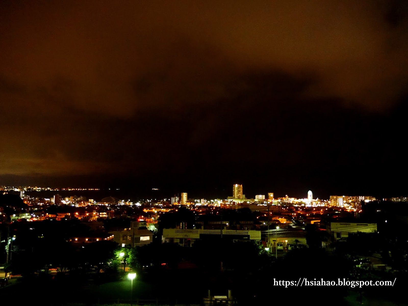 沖繩-中部-美國村夜景-美國村-Okinawa-night-view