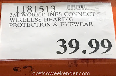 Deal for the 3M Worktunes Connect Wireless Hearing Protector & Eyewear at Costco
