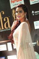 Prajna Actress in backless Cream Choli and transparent saree at IIFA Utsavam Awards 2017 0064.JPG