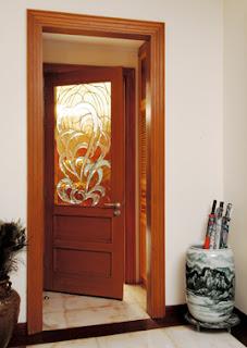kaca dekoratif, dekorasi rumah plus penyekat ruangan