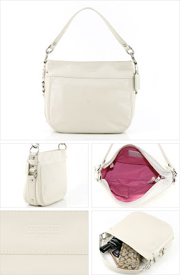 7761b575c168 COACH 14707 LEATHER CONVERTIBLE ZOE A very elegant white leather bag