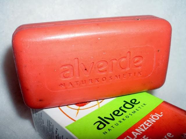 alverde truskawkowe mydło w kostce