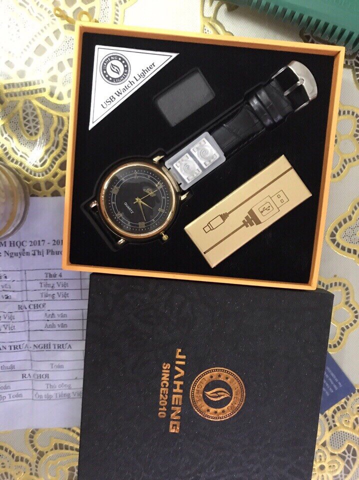 210k - Đồng hồ kiêm bật lửa sạc điện loại xịn giá sỉ và lẻ rẻ nhất