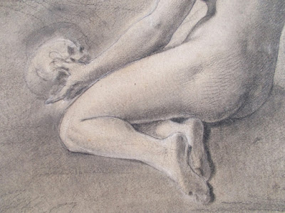 Allegoria della vanità - disegno del secolo XIX - nudo femminile - annunci