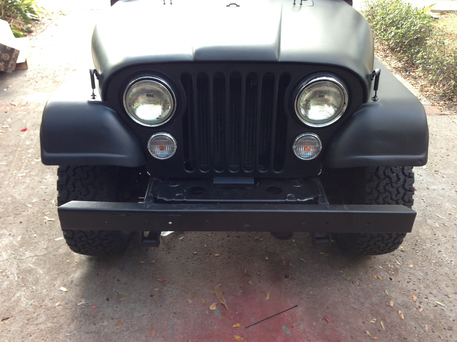 Jeep Cj Front Bumper Wiring Library Installing The My 1981 8 Scrambler Build