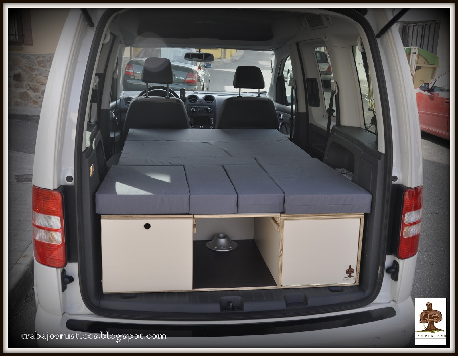 trabajos r sticos modulo camper volkswagen caddy 30 edition. Black Bedroom Furniture Sets. Home Design Ideas