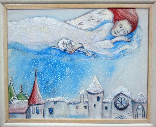 lumine vaikus haapsalu pitsiline maal valge ingel toomkirik lumi