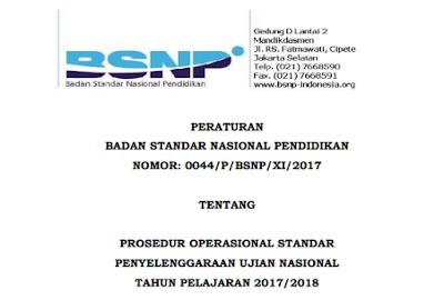 POS UN 2018 dari BSNP