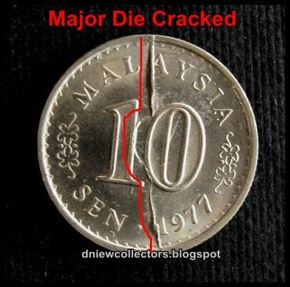 SPLIT DIE STRIKE ERRORS   Error coins