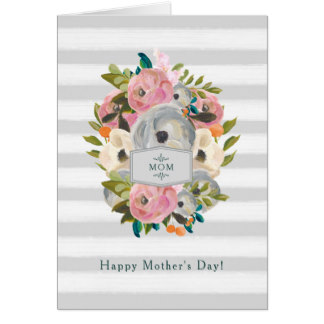 Trendy Cards for Mother's Day - Happy Mother's Day | Pretty Watercolor Flowers Card