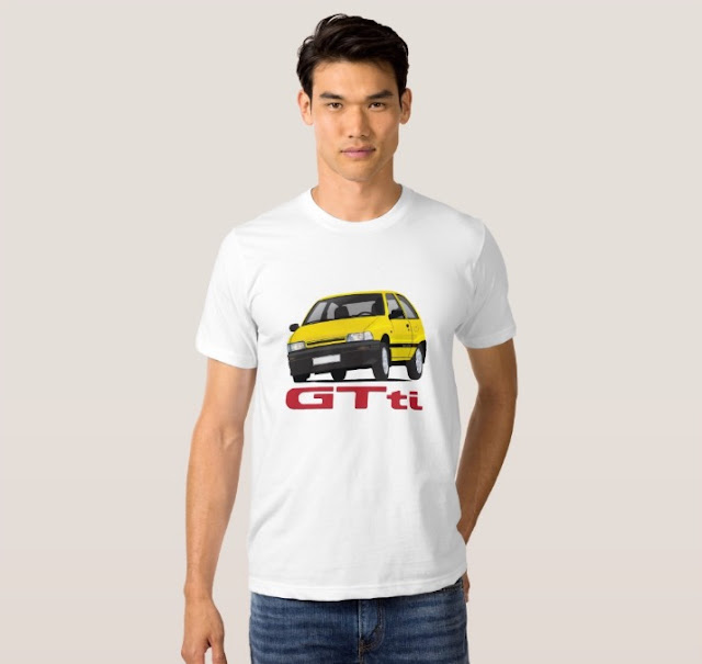 80's Daihatsu Charade GTti t-shirt, yellow
