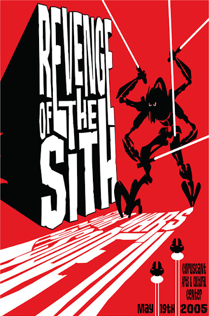 Star Wars Retro Movie Poster Screen Prints by James Silvani - Epsiode III: Revenge of the Sith