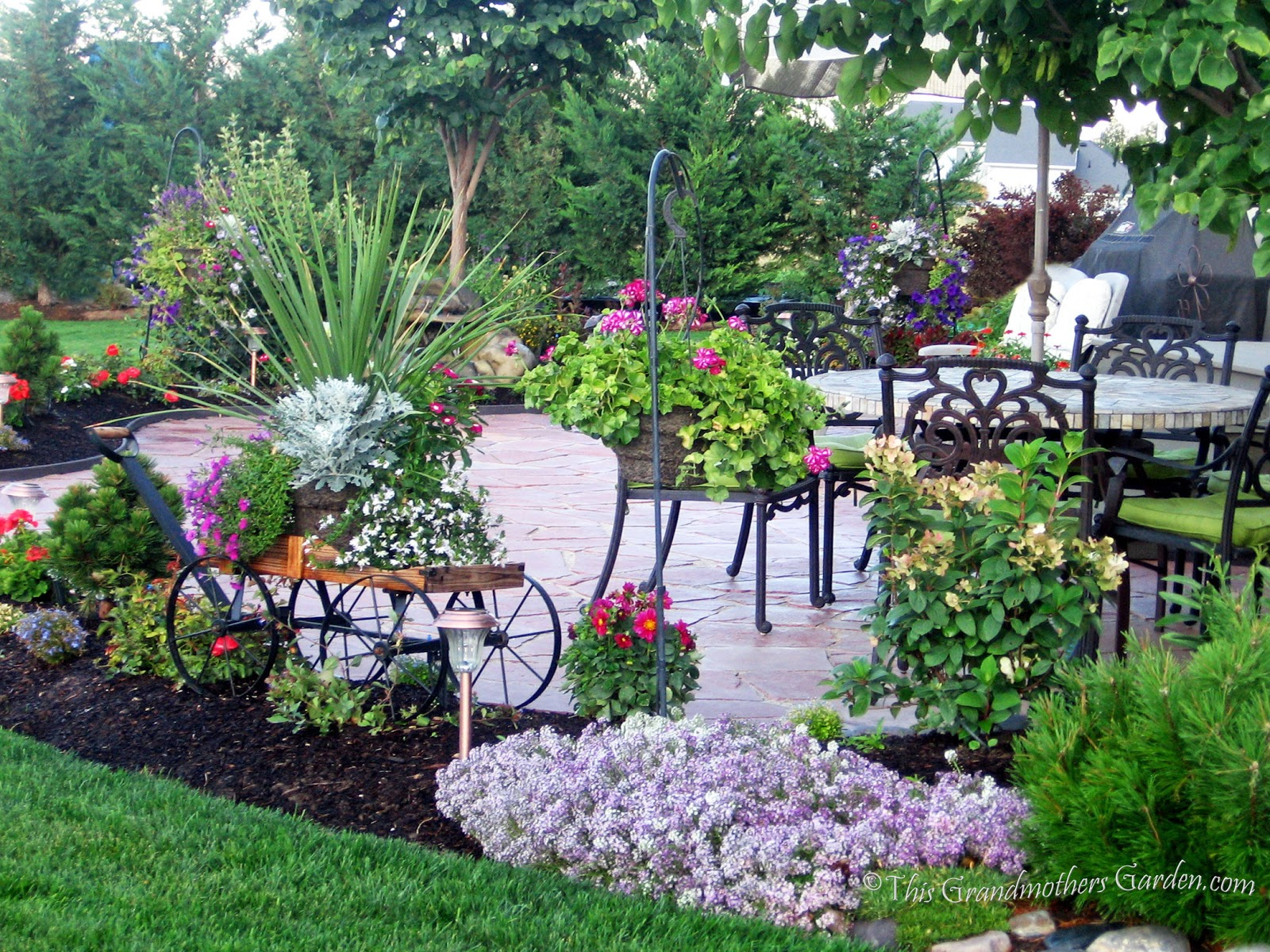 This Grandmother's Garden: DIY Flagstone Patio