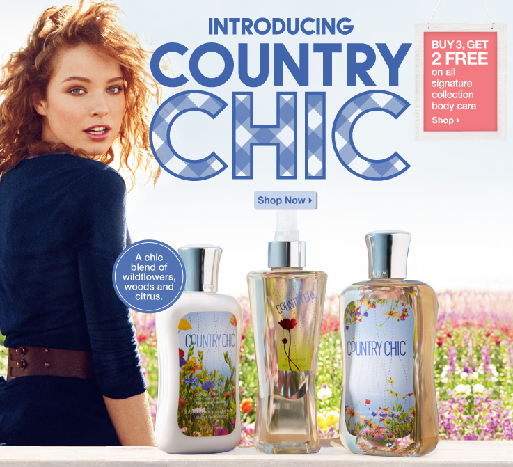 Country Chic Collection Introduced By Bath Amp Body Works