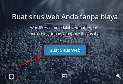 klik buat situs di wordpress.com
