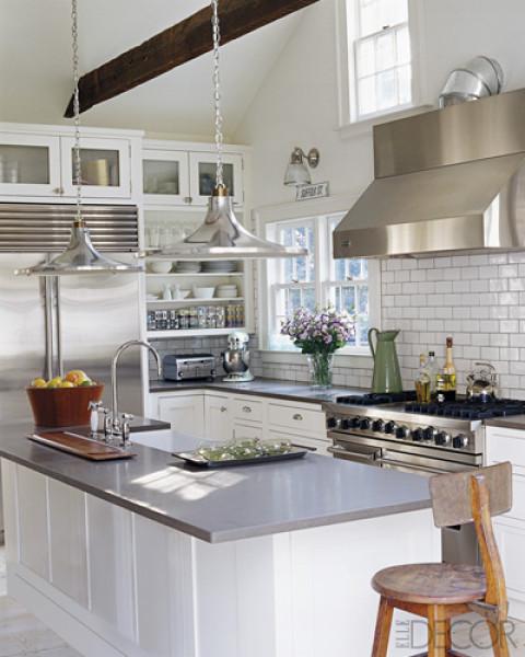 Elle Decor Kitchens: White Subway Tile- Check! Now, What Grout Color?