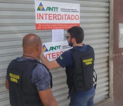 Empresas de turismo são interditadas após fiscalização da ANTT em Montes Claros