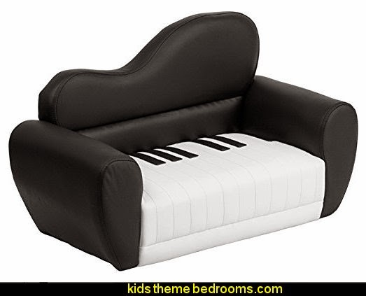 Kids Piano Chair  Music bedroom decorating ideas - rock star bedrooms - music theme bedrooms - music theme decor - music themed decorations - bedding with musical notes