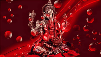 nice-ganeshji-walls-in-red-theme