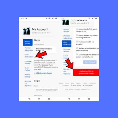 Cara Berhenti Berlangganan Email Academia.edu