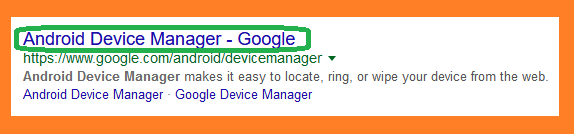 Search android device manager