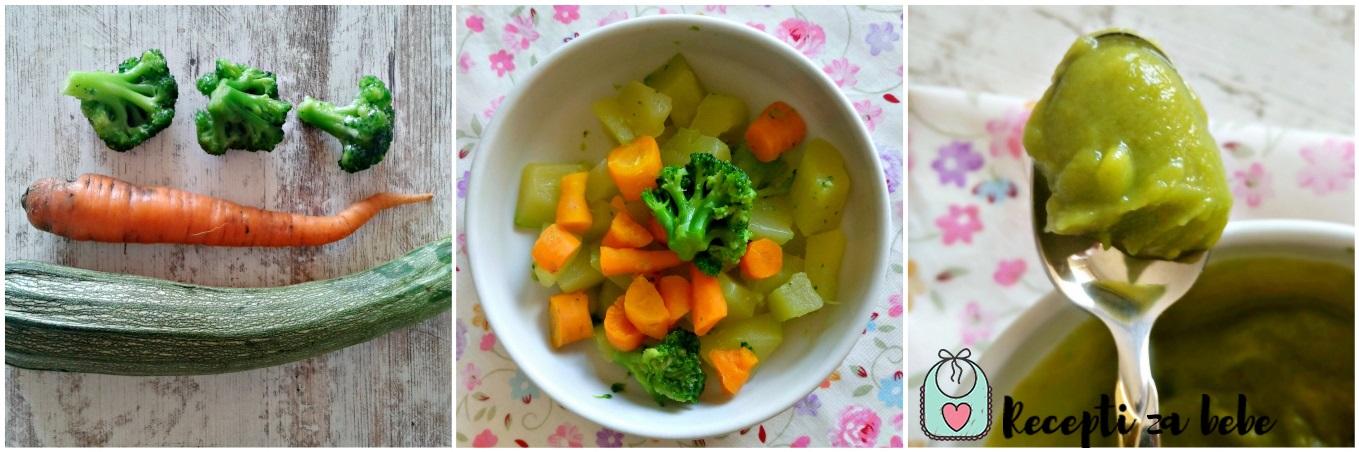 Мrkva, tikvica i brokula za bebe
