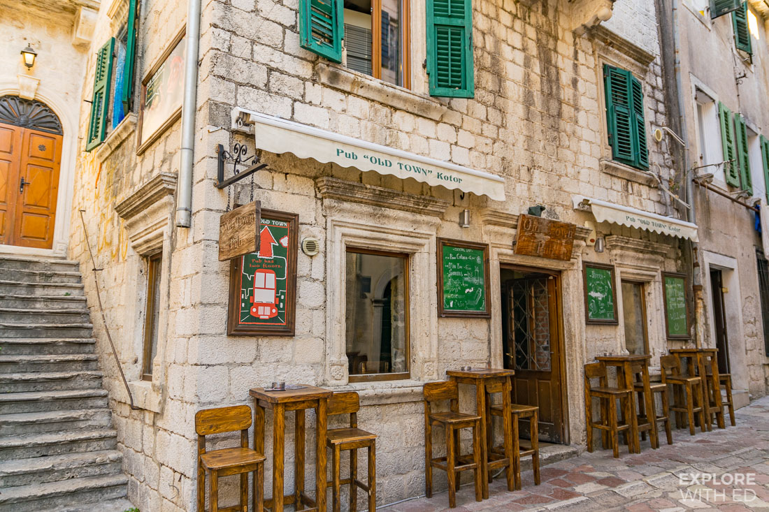 The Old Town Pub in Kotor Montenegro
