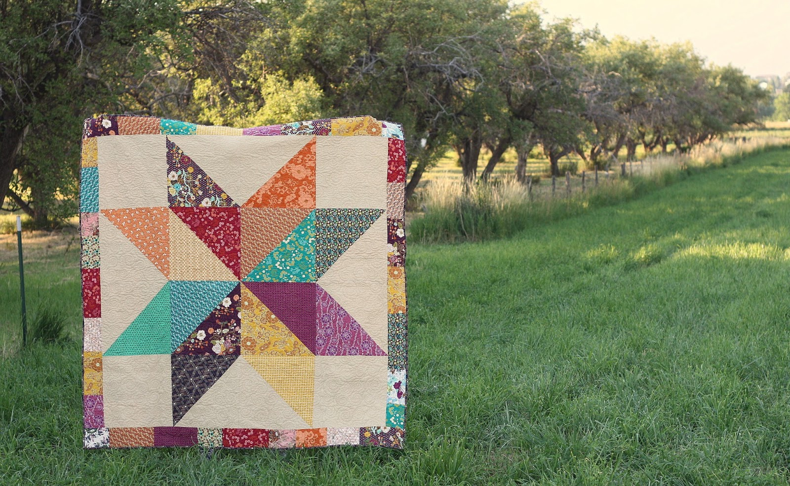 Fat Quarter Giant Star Quilt : large star quilt pattern - Adamdwight.com