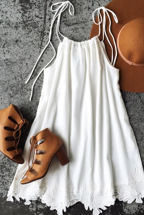 Ivory Embroided Swing Dress