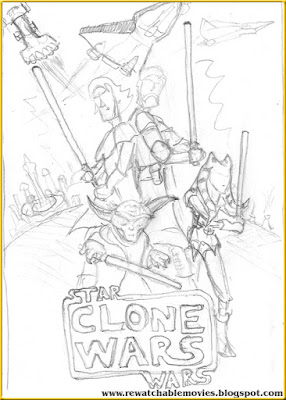 Star Wars: Clone Wars sketch poster