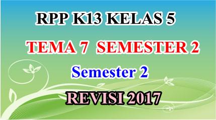 RPP K13 Kelas 5 Tema 6 Semester 2 Edisi Revisi 2017