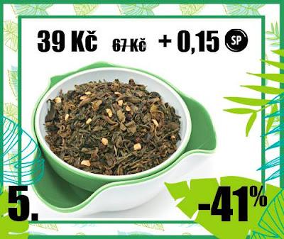 """50 g """"Pikantní zázvor"""" - aromat. zelený čaj"""