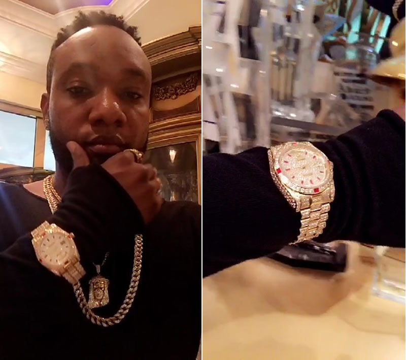 They're saying Kcee's wristwatch is priced N30m