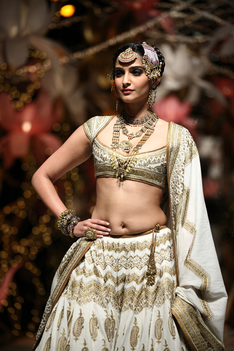 Sonam Kapoor Deep Navel Show Photos