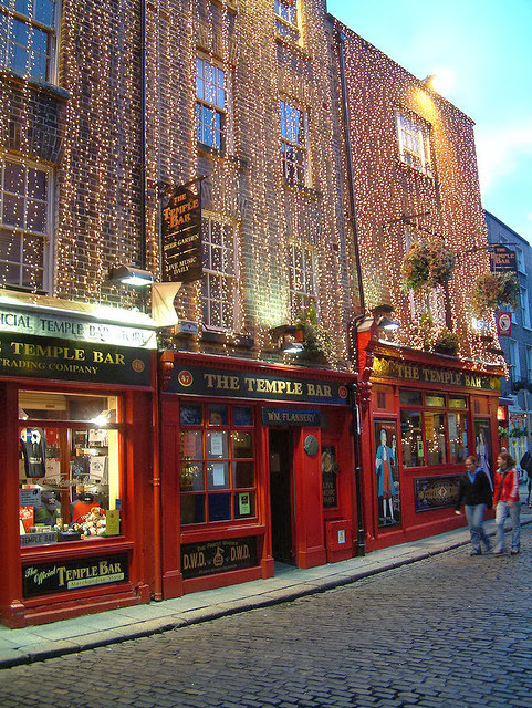 temple bar christmas dublino