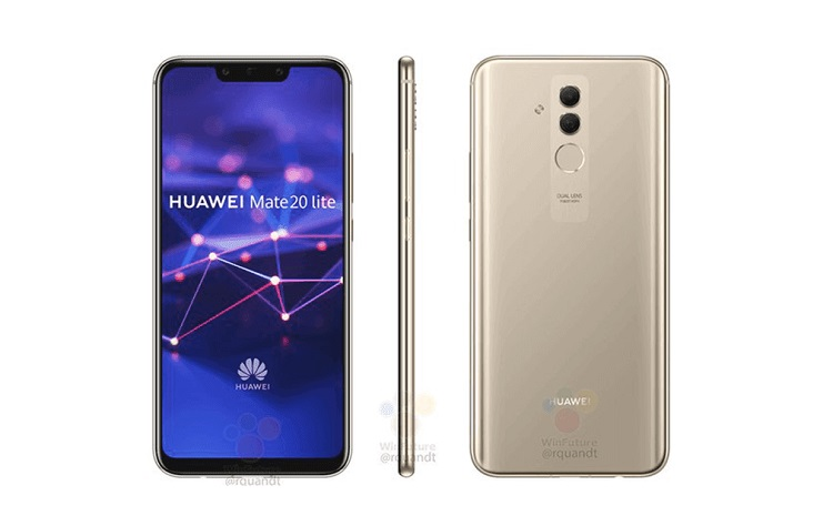 Huawei Mate 20 Lite Press Renders Leaked