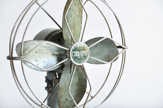 Vintage Industrial Small Metal Fan #vintage #fan