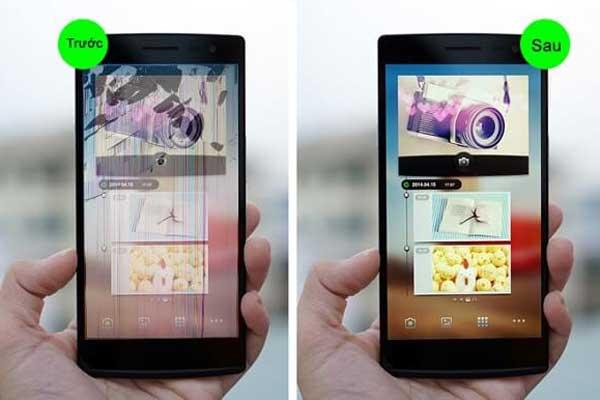 Oppo Neo 5 sau khi màn hình được thay thế