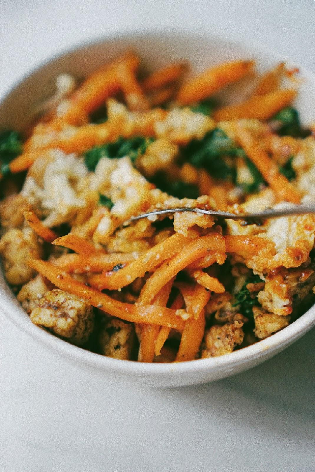 Resep Bibimbab with Cauliflower Rice - Yummy